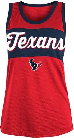 5th & Ocean Clothing Women's Houston Texans Poly Mesh Tank Top