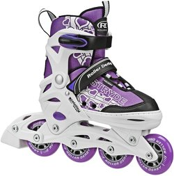Roller Derby Girls' Stryde Size Adjustable In-Line Skates