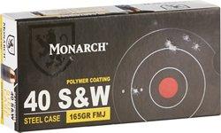 Monarch .40 S&W FMJ Pistol Ammunition