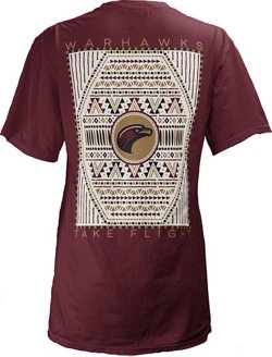 Three Squared Women's University of Louisiana at Monroe Aztec Diamond Coastal T-shirt