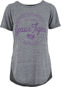 Three Squared Women's Louisiana State University Ella Seal Knobi T-shirt