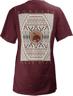 Three Squared Women's Texas State University Aztec Diamond Coastal T-shirt