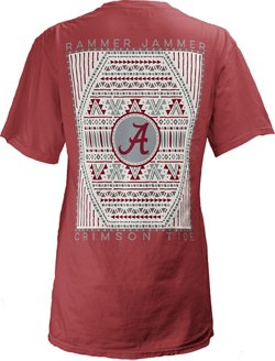 Three Squared Women's University of Alabama Aztec Diamond Coastal T-shirt