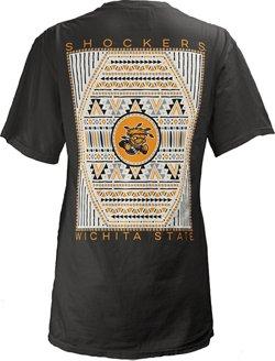 Three Squared Women's Wichita State University Aztec Diamond Coastal T-shirt