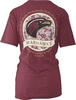 Three Squared Women's University of Louisiana at Monroe Lace Emblem Melange T-shirt