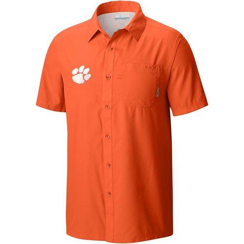 Columbia Sportswear Men's Clemson University Slack Tide Camp Shirt