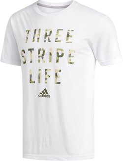 adidas Men's Three Stripe Life T-shirt