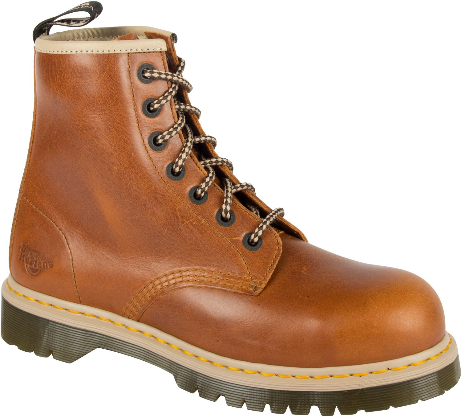 2f33a63590d Dr. Martens Men's Icon 7B10 Steel Toe Lace Low Work Boots