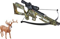 New-Ray Toys Hunting Camo Play Crossbow With Deer Target