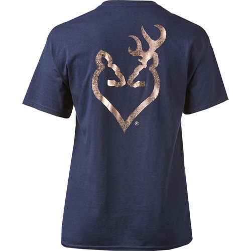 Browning Women's Classic Foil Buckheart T-shirt