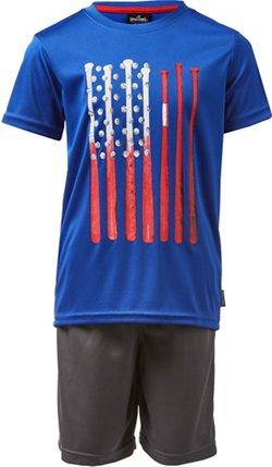 Spalding Toddler Boys' Americana T-shirt and Shorts Set