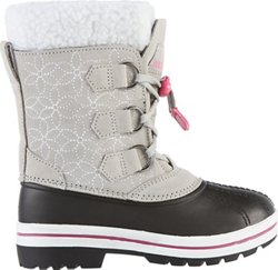 Magellan Outdoors Girls' Floral Suede Pac Boots