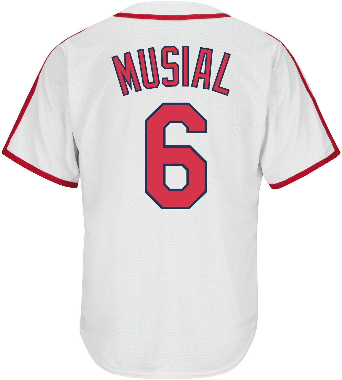 best loved 1b234 a7484 Majestic Men's St. Louis Cardinals Stan Musial 6 COOL BASE Cooperstown  Replica Jersey