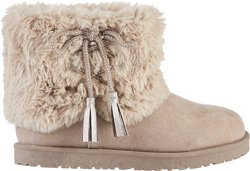 Girls' Fur Lace Boots