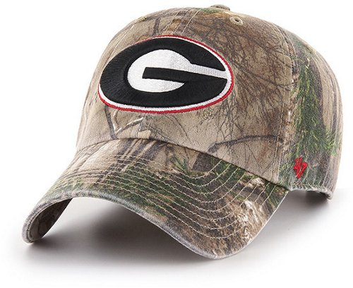 '47 University of Georgia Primary Wordmark Realtree Camo Clean Up Cap (Beige/Dark Green, Size 2 T / 4 T) - NCAA Licensed Product, NCAA Men's Caps at Academy ... thumbnail