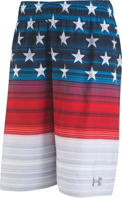 Under Armour Boys Americana Striped Volley Swim Shorts