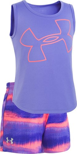 Under Armour Toddler Girls' Big Logo Horizon Tank Top and Shorts Set