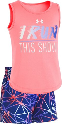 Under Armour Girls' 4-7 This Show Tank Top and Shorts Set