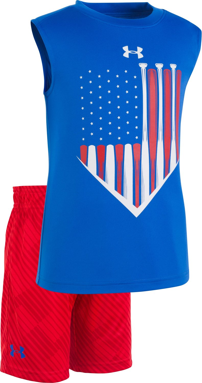 Under Armour Boys' Baseball Americana Tank Top and Shorts Set - view number 1