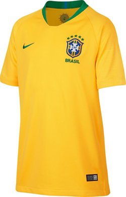 Nike Boys' Brazil CBF Stadium Home Replica Jersey