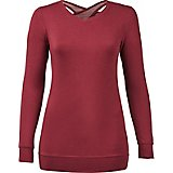 BCG Women's Open-Back French Terry Long Sleeve Pullover