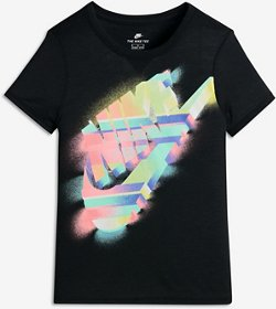 Nike Girls' Sportswear Painted Futura Short Sleeve T-shirt