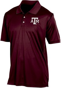 Champion Men's Texas A&M University Play Clock Polo Shirt