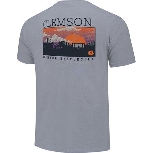 Image One Men's Clemson University Campus Scene T-shirt