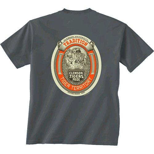 New World Graphics Men's Clemson University Inset Oval T-shirt