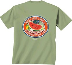 New World Graphics Women's University of Florida Watermelon Label T-shirt