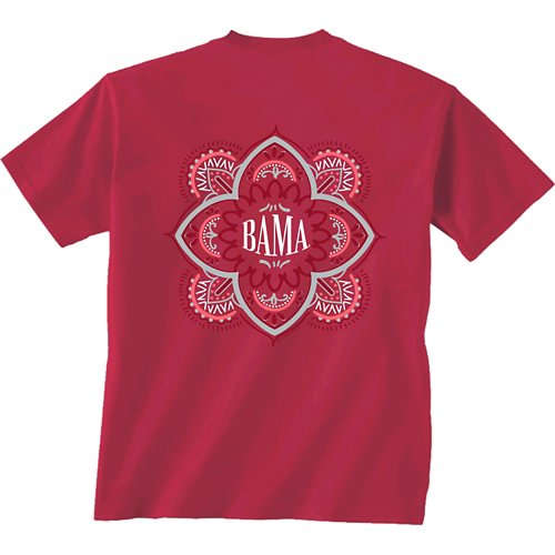 New World Graphics Women's University of Alabama Quatrefoil T-shirt