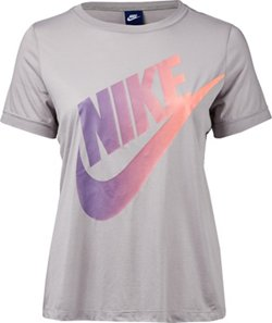 Nike Women's Logo Futura Ext Plus Size Short Sleeve Top