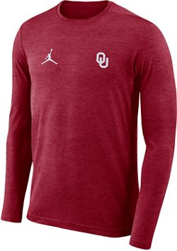 Nike Men's University of Oklahoma Dry Coaches Long Sleeve T-shirt