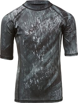 O'Rageous Boys' Realtree Short Sleeve Rash Guard