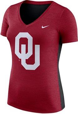 Nike Women's University of Oklahoma Dri-FIT Touch V-neck T-shirt