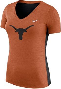 Nike Women's University of Texas Dri-FIT Touch V-neck T-shirt