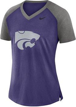 Nike Women's Kansas State University Fan V-neck Top