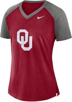 Nike Women's University of Oklahoma Fan V-neck Top