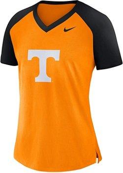 Nike Women's University of Tennessee Fan V-neck Top