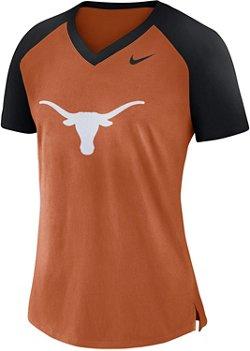 Nike Women's University of Texas Fan V-neck Top