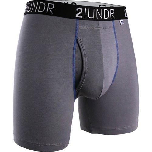 2UNDR Men's Swing Shift 6 in Solid Boxer Briefs