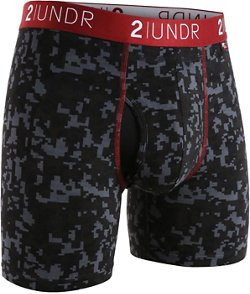 2UNDR Men's Swing Shift 6 in Digi Camo Boxer Briefs