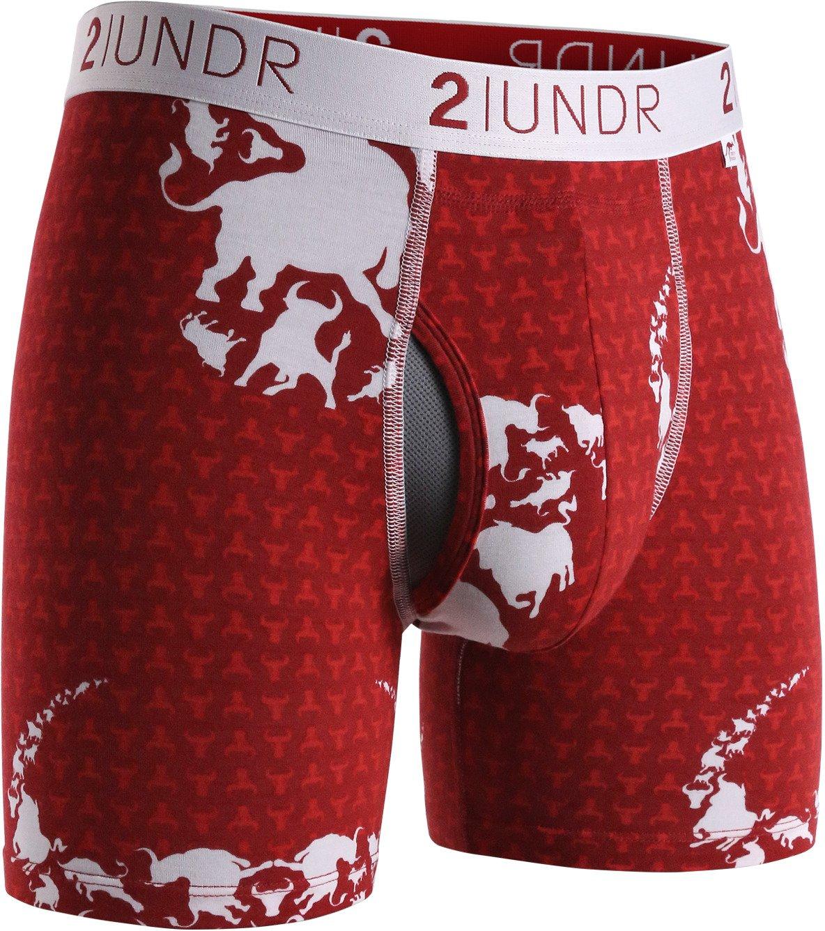2UNDR Men's Swing Shift 6 in Digi Camo Boxer Briefs