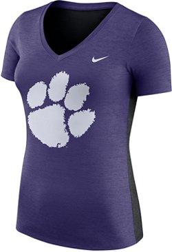 Nike Women's Clemson University Dri-FIT Touch V-neck T-shirt