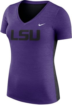 Nike Women's Louisiana State University Dri-FIT Touch V-neck T-shirt