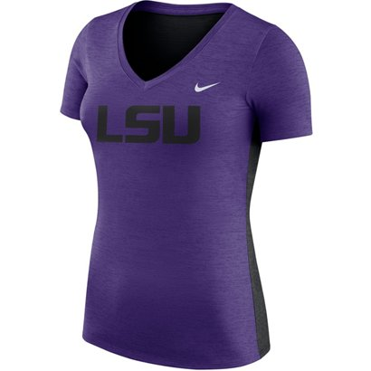 bb2c5158395 ... Nike Women s Louisiana State University Dri-FIT Touch V-neck T-shirt.  LSU Tigers Clothing. Hover Click to enlarge