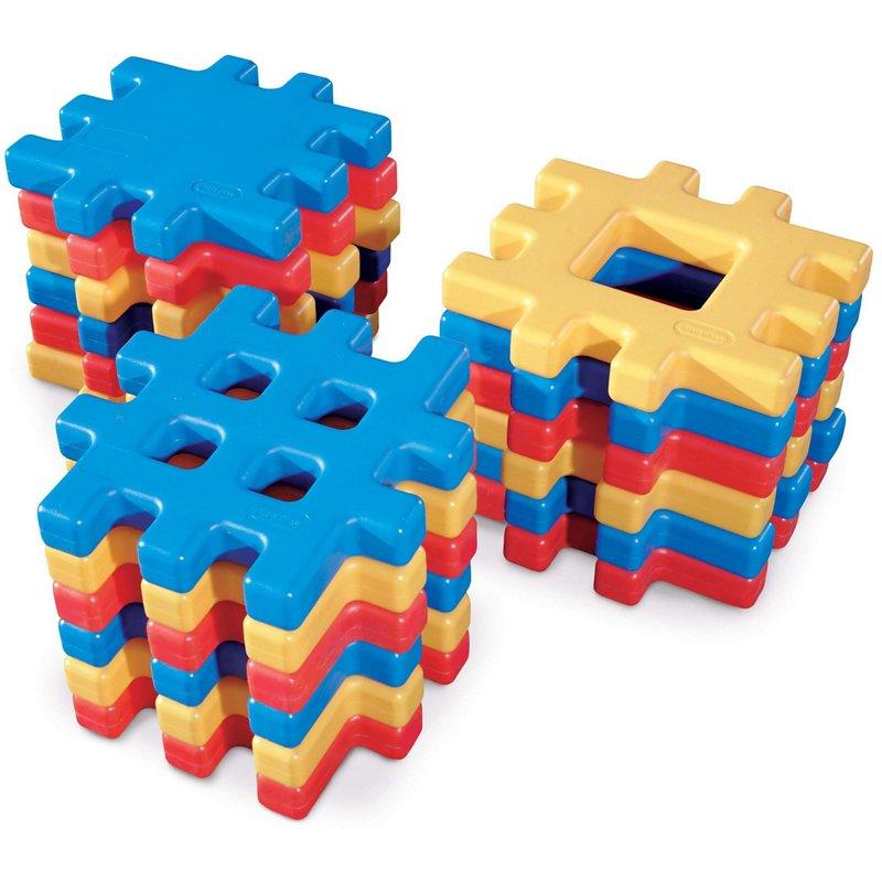 Little Tikes Big Waffle 18 Piece Toddler Kid Construction Building Block Set