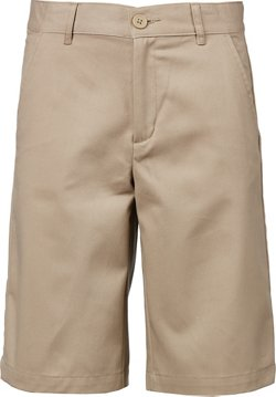 Boys' Flat Front Uniform Shorts