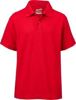 Boys' Uniform Pique Polo Shirt