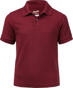 Boys' Uniform Pique Polo Shirt